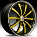 Lexani LSS-10 (Black, Yellow, Chrome)