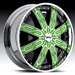 DUB Tycoon Spinner Custom (Chrome, Green, Black)