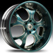 Asanti AFC 403 (Teal, Chrome)